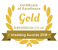Bridebook 2018 Gold Wedding Award