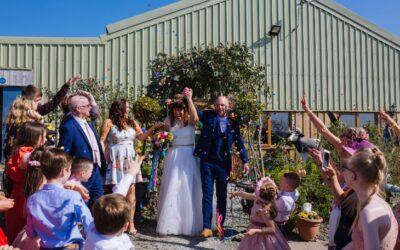 Festival Wedding: Caz & Scott